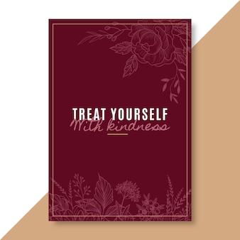 Plantilla elegante de tarjeta de amor propio
