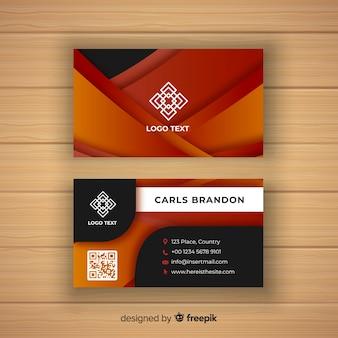 Plantilla elegante de tarjeta de negocios con diseño abstracto