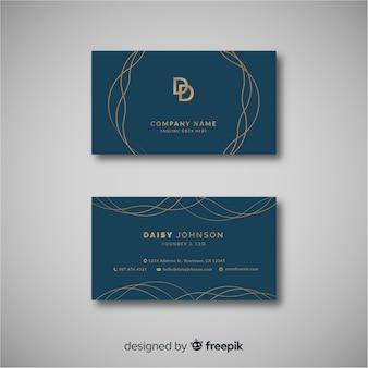 Plantilla elegante de tarjeta de visita con diseño abstracto
