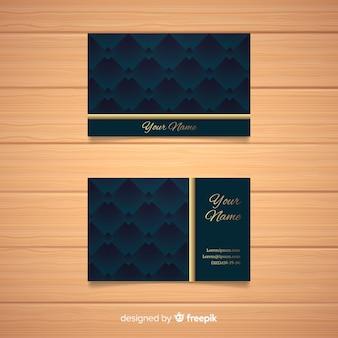 Plantilla de elegante de tarjeta de visita