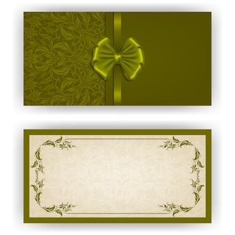Plantilla elegante del vector para la invitación de lujo