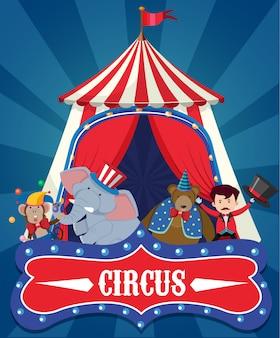 Una plantilla de elemento de circo