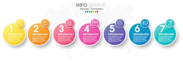 Plantilla de elemento de infografía colorido