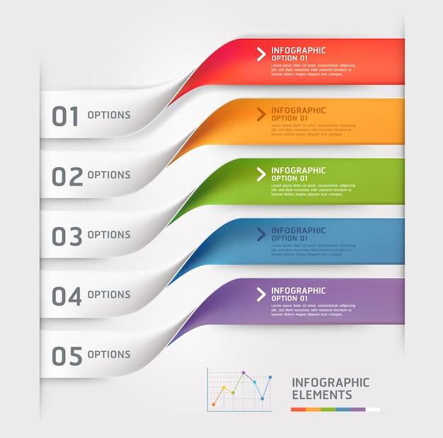 Plantilla de elementos de infografía empresarial