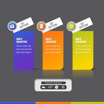 Plantilla de elementos de infografía moderna
