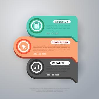 Plantilla de elementos de infografía