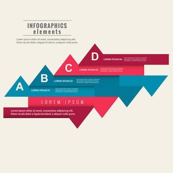 Plantilla de elementos infográficos coloridos