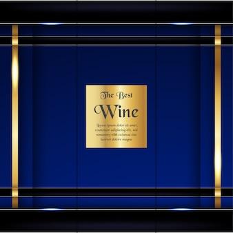 Plantilla de embalaje de lujo en estilo moderno para la cubierta de vino, caja de cerveza.