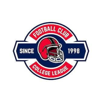 Plantilla de emblema de fútbol americano.