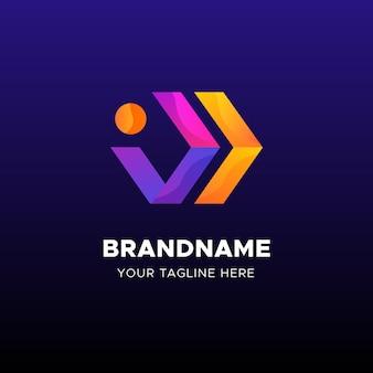 Plantilla empresarial de logotipo de flechas