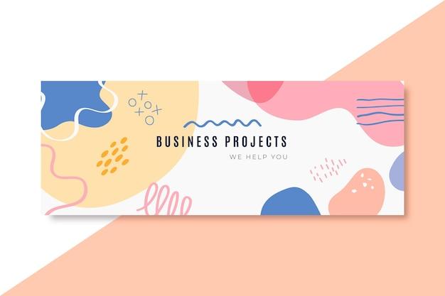 Plantilla de encabezado de blog de negocios abstracto
