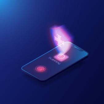 Plantilla de escáner de huellas digitales
