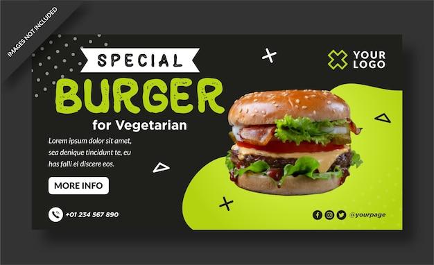 Plantilla especial de banner web de menú de hamburguesas