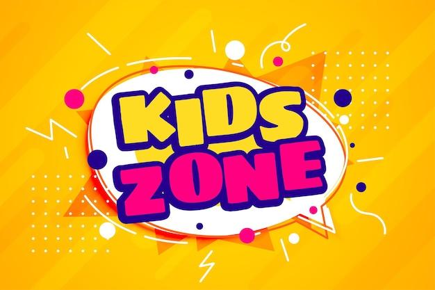 Plantilla de estilo de dibujos animados de zona de diversión para niños