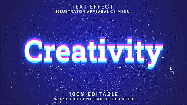 Plantilla de estilo de efecto de texto brillante editable de creatividad