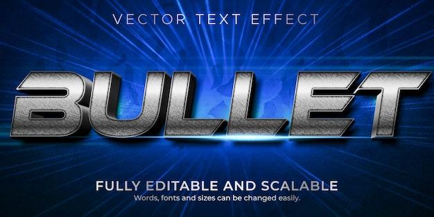 Plantilla de estilo de efecto de texto bullet metallic