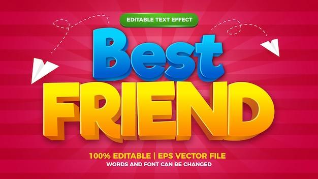 Plantilla de estilo de efecto de texto editable cómico de dibujos animados de mejor amigo.jpg