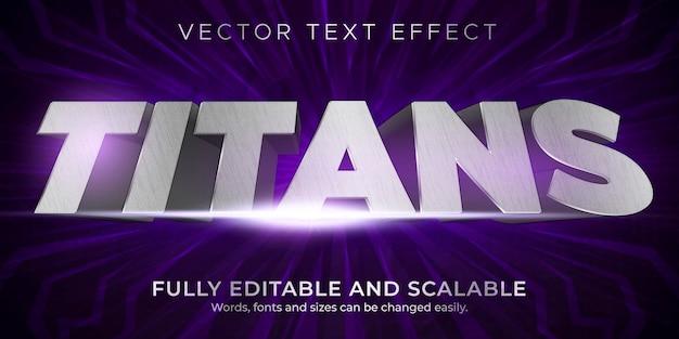 Plantilla de estilo de efecto de texto metálico