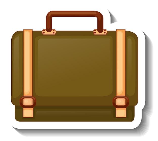 Una plantilla de etiqueta con un bolso unisex aislado