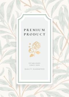 Plantilla de etiqueta botánica vintage