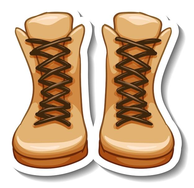 Una plantilla de etiqueta con botas de mujer aisladas