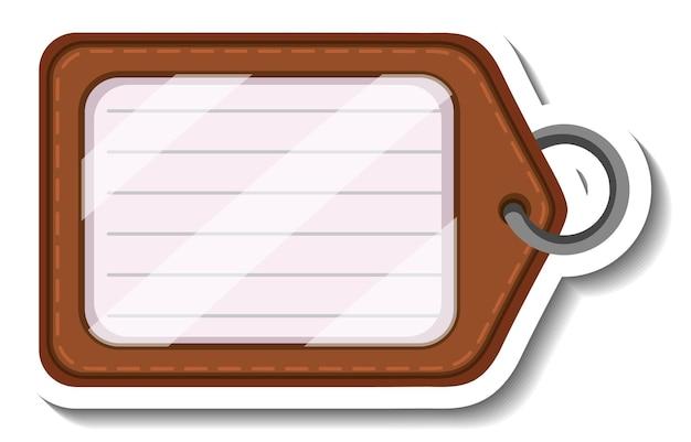 Una plantilla de etiqueta con una etiqueta de nombre aislada.