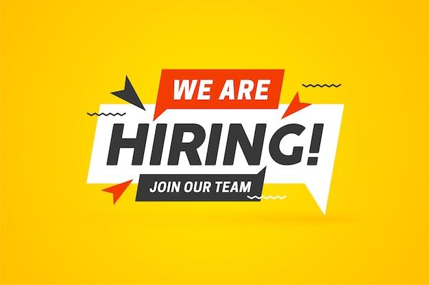 Plantilla de etiqueta de información de diseño de vacante abierta de reclutamiento de contratación que estamos contratando únase a nuestro equipo anuncio