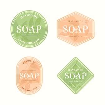 Plantilla de etiqueta de jabón dibujada
