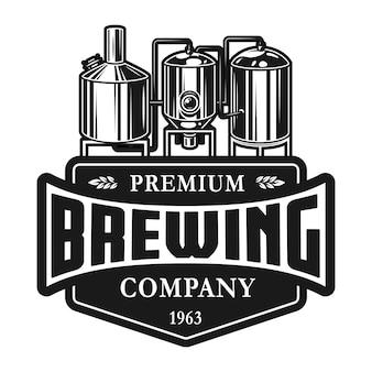 Plantilla de etiqueta de producción de cerveza vintage