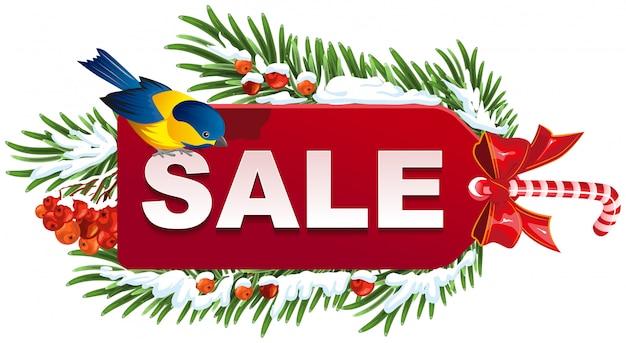 Plantilla de etiqueta de venta de navidad