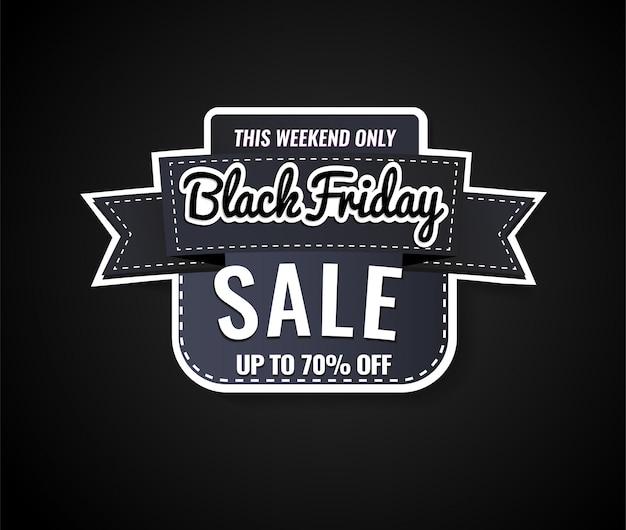 Plantilla de etiqueta de venta de viernes negro, oferta especial.