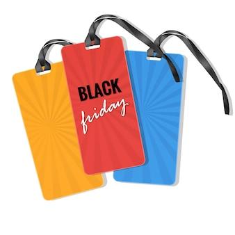 Plantilla de etiqueta de venta de viernes negro.