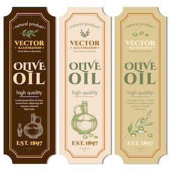 Plantilla de etiquetas de aceites de oliva.