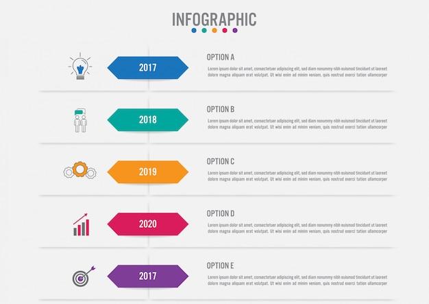Plantilla de etiquetas de infografía de negocios