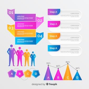 Plantilla de evolución de gráficos de negocios