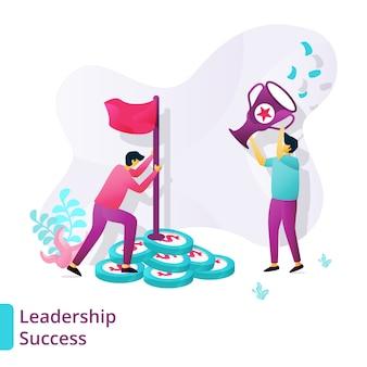Plantilla de éxito de liderazgo