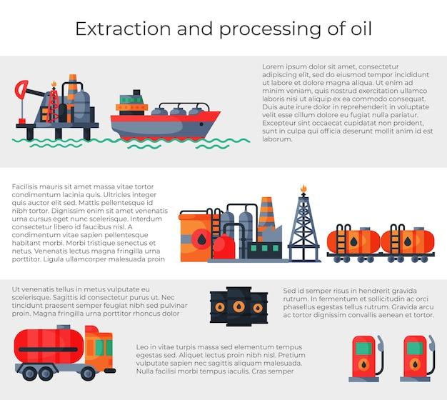 Plantilla de extracción y procesamiento de aceite