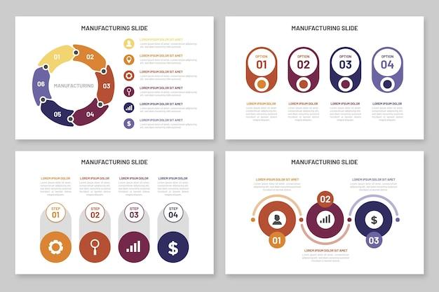Plantilla de fabricación de infografías
