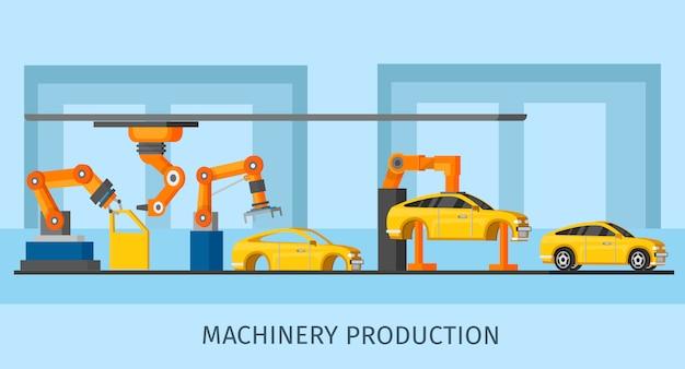 Plantilla de fabricación de maquinaria industrial automatizada