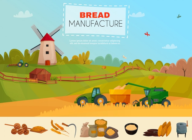 Plantilla de fabricación de pan