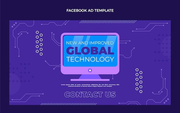 Plantilla de facebook de tecnología mínima