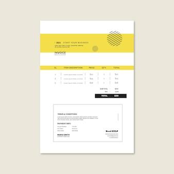 Plantilla de factura comercial general
