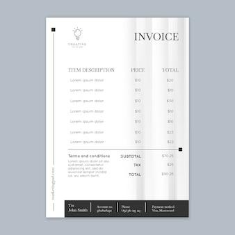 Plantilla de factura comercial de marketing vertical
