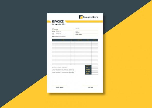 Plantilla de factura comercial profesional moderna