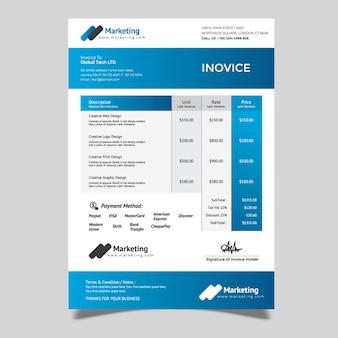 Plantilla de factura simple
