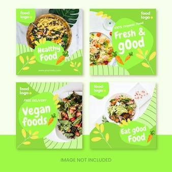 Plantilla de feed de publicación de instagram del día vegetariano