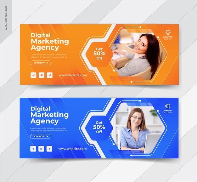 Plantilla de feed de publicaciones de instagram de marketing digital