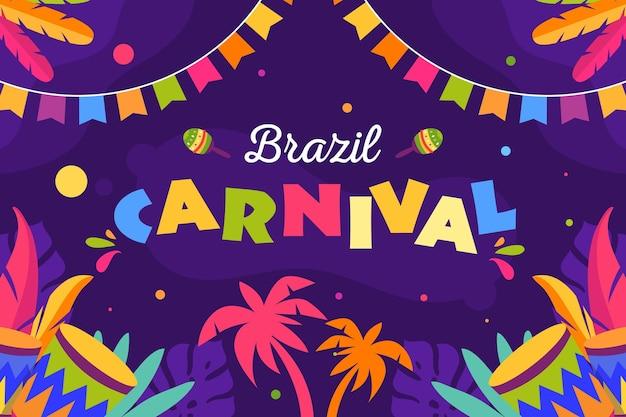 Plantilla de festival de carnaval de brasil