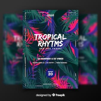 Plantilla de festival de música tropical vintage