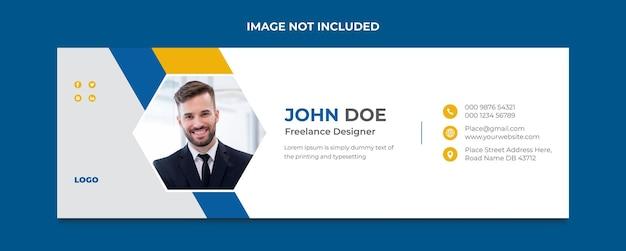 Plantilla de firma de correo electrónico corporativo o diseño de portada de redes sociales